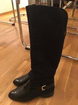 Zara Trafaluc Botas estilo militar negro-color oro