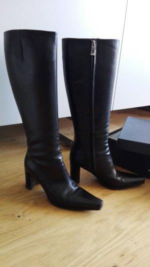 Stiefel schwarzes Leder von Konstantin Starke Gr. 36