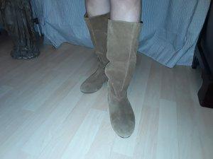 Zara Slappe laarzen brons Suede