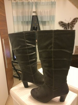 Botas altas gris antracita