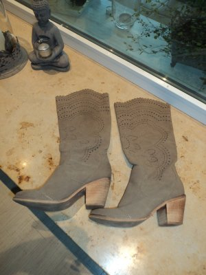 Western Boots light brown imitation leather
