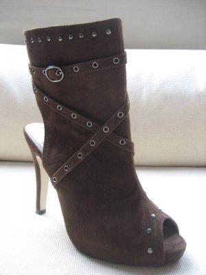 stiefel Stiefelette braun sexy Plateau gr. 38 neu