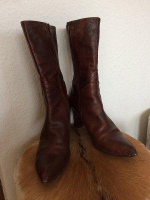 Stiefel Stiefeletten dunkelbraun Gr.39 von Mentor