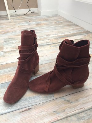 Topshop Booties multicolored leather