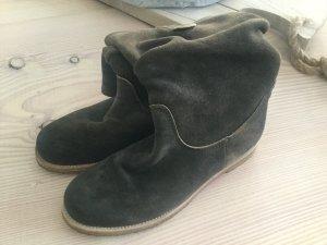 Stiefel Stiefeletten von Kennel und Schmenger K&S Gr. 5 38 khaki grau Schlamm