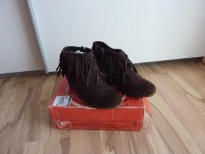 Stiefel Stiefeletten Wildleder braun Gr.39 40 neu+ovp