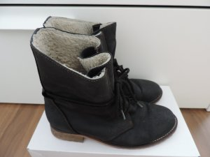Sommerkind Lace-up Boots black-white