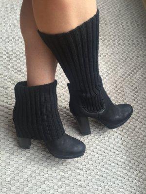 Platform Booties black