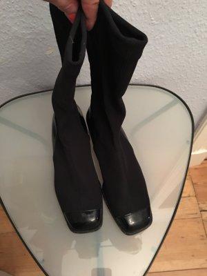 Bottes stretch noir