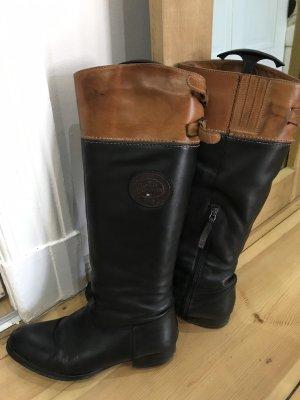 Tommy Hilfiger Jackboots black-cognac-coloured
