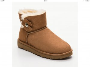 UGG Winter Booties multicolored leather