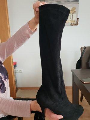 Stiefel Velour schwarz neuwertig letzte Preissenkung