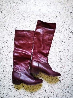 Hoge laarzen bordeaux