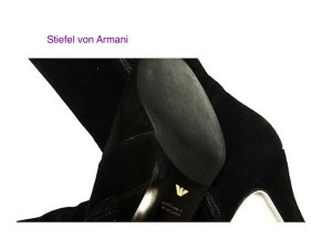 Armani Heel Boots black suede