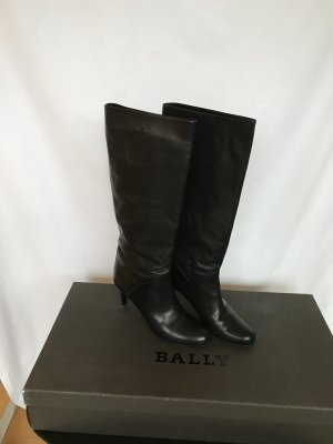 Bally Bottes à talon haut noir cuir