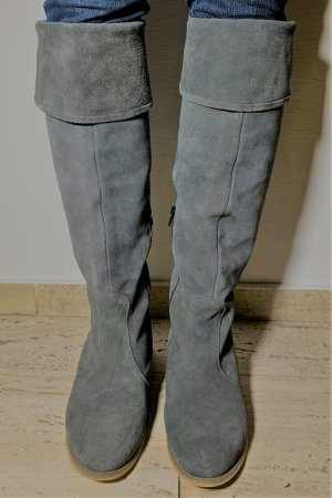 Bama Jackboots grey suede