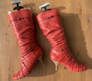 Bronx Jackboots bright red leather