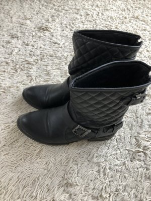 Buffalo Biker Boots black-silver-colored