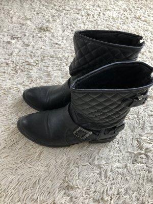 Buffalo Biker Boots black-silver-colored