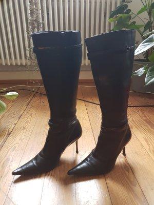 Buffalo High Heel Boots black leather