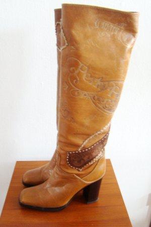 Baldinini Heel Boots cognac-coloured-brown leather