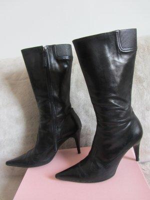 Hugo Boss Korte laarzen zwart Leer
