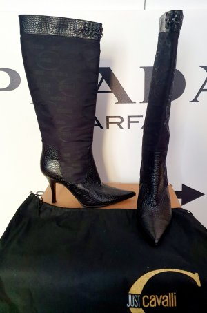 Just cavalli Heel Boots black leather