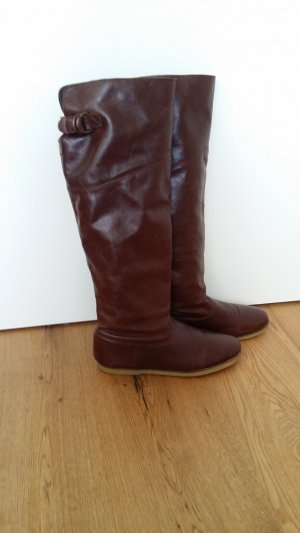 KMB Slouch Boots cognac-coloured