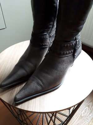 Lamica Western Boots dark brown leather