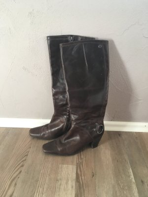 Stiefel von Marc O'Polo in dunkelbraun echtes Leder Größe 36