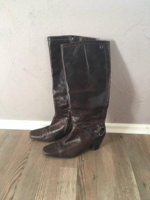 Marc O'Polo Botas estilo militar marrón oscuro-marrón-negro Cuero