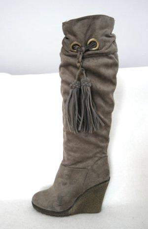 Botas slouch marrón grisáceo Imitación de cuero