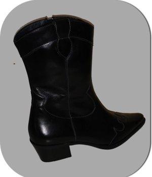 Paul Green Botas estilo vaquero negro Cuero