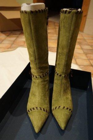 Stiefel von Pedro Miralles Größe 38 in grün/braun