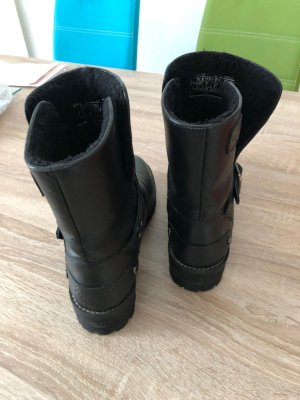 Pepe Jeans London Short Boots black leather
