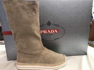 Prada Short Boots cream-beige
