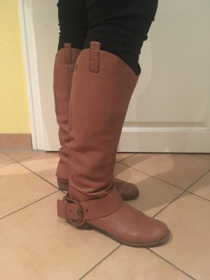 Spm Riding Boots cognac-coloured-brown leather