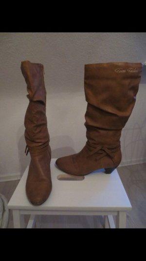 Stiefel von Tom Tailor, Gr. 38, Cognac
