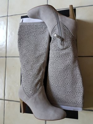 Gerry Weber High Heel Boots light grey-silver-colored suede