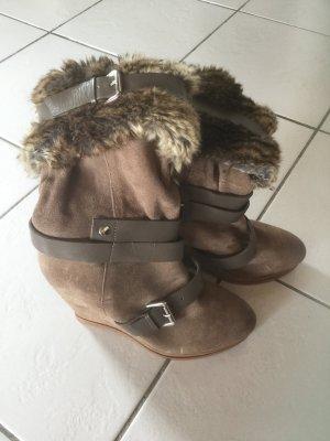 Stiefel Wildleder mit Keilabsatz von sacha