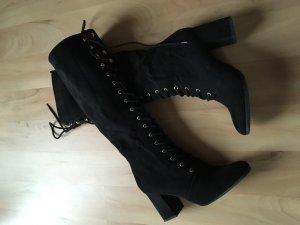 Graceland Halfhoge laarzen zwart-goud Imitatie leer