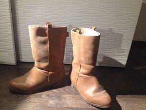Stiefel Winterstiefel  Boots Leder Hippie Boho Bronzefarben