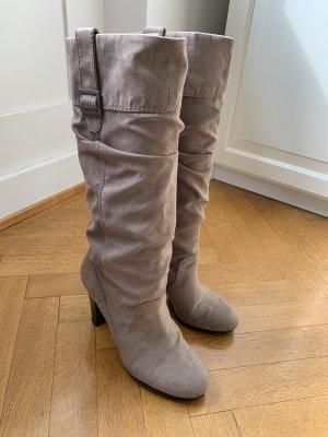 Zara High Heel Boots light grey-grey