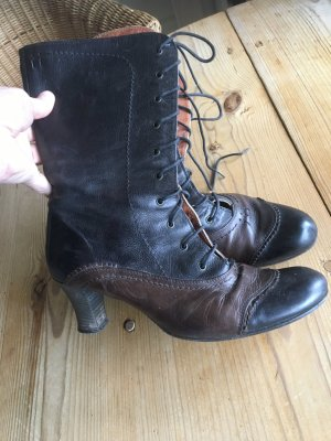 AF Booties black-bronze-colored leather