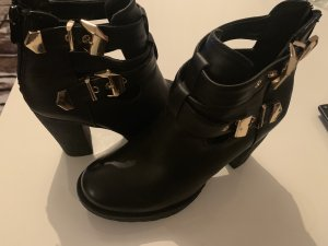 Heel Boots black imitation leather
