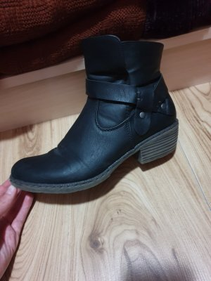 Rieker Slouch Booties black