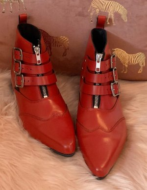 Underground Chelsea Boot rouge foncé-argenté