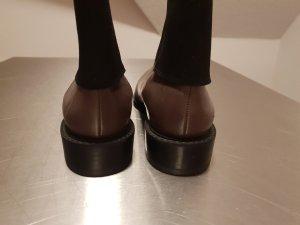 Clarks Bottillons gris brun-ocre cuir