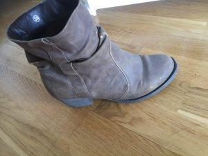 Western Booties light brown-grey brown