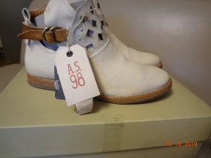 A.S.98 Booties oatmeal-beige leather